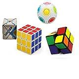 cls 3er Set Magic Cube Zauberwürfel Puzzle Spielwürfel 3x3 + 2x2 Magic Ball Zauberball