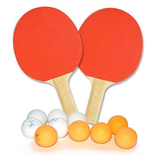 Tischtennis Set 2x Schläger inkl. 10x Tischtennisbällen Tabletennis