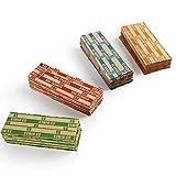 hwbq Confezione di Monete in Carta Kraft Quattro Colori 300 Sacchetti