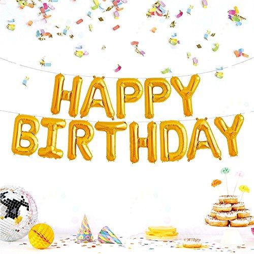 JZK Globos cumpleaños ' Happy Birthday ' Feliz cumpleaños globos feliz cumpleaños bandera para niños adultos fiesta cumpleaños decoraciones suministros accesorios