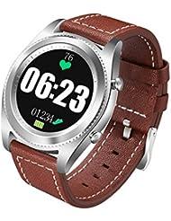 Docooler NO.1 S9 NFC Bracelet de Sport Rythme Cardiaque Smart BT Watch Suivi de la Santé Bracelet Notification d'appel Alarme Podomètre Anti-perdu Sleep Monitor pour iPhone Android