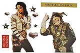 XL Set: Wandtattoo / Sticker - Michael Jackson Musik Pop Sänger King of Pop - Wandsticker Aufkleber