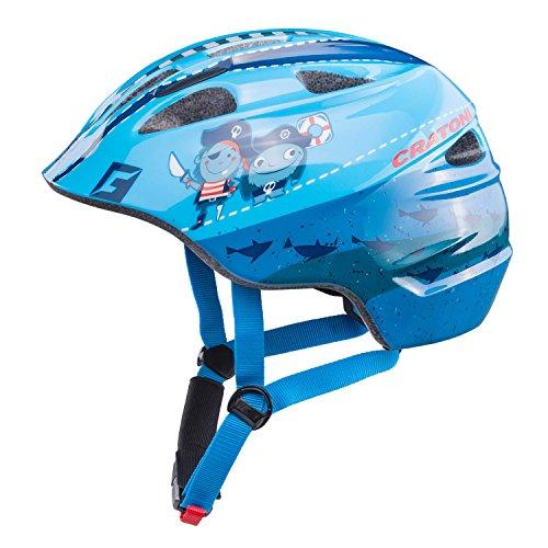 Cratoni Akino Fahrradhelm Kids pirat blau glanz Kopfumfang M | 53-58cm 2018 mountainbike helm downhill