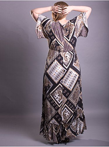 Vêtement Femme Grande Taille Robe Edmond Boublil Taupe Taupe