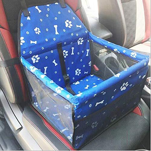 MOIMK Eigener Auto-Hundesitz Für Kleine Hunde   Autositz-Hund 40X30x25cm Als Sitzschutz   Wasserfester Und Sicherer Transport Für Ihren Hund Auf Rückbank Oder Beifahrersitz, Blue