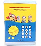 #8: Flipzon Atm For Kids Piggy Savings Bank with Electronic Lock With Music And Automatic Door Open, Battery Operated (Yellow)