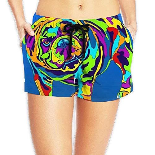 vbndfghjd Women's Elastic Lounge Shorts Volleyball Bling Love Beach Shorts XL -