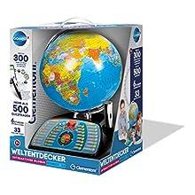 Clementoni - 59095 Galileo Science - Globe Interactif Connect 2.0 - Boule du Monde parlante avec Questions & Faits - Jouet pour Les Enfants à partir de 7 Ans - Jouet éducatif