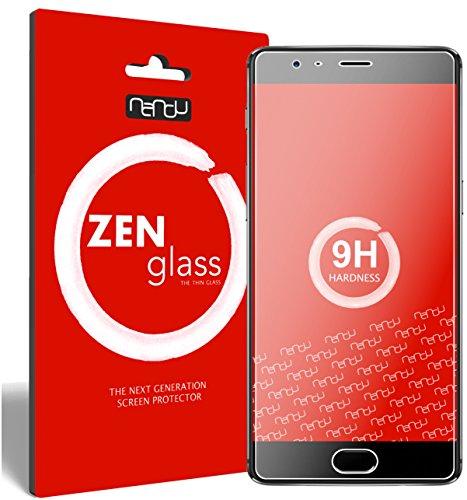 nandu I ZenGlass [2 Stück] Flexible Glas-Folie für OnePlus 3 Panzerfolie I Bildschirm-Schutzfolie 9H I (Kleiner Als Das Gewölbte Bildschirm)