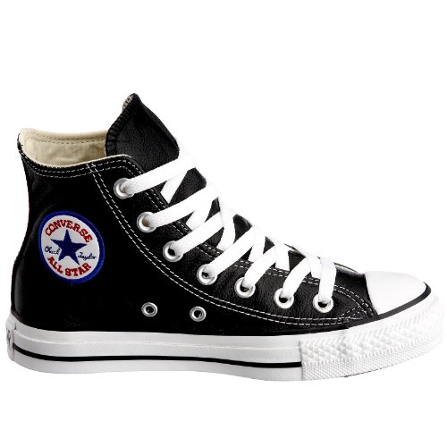 Converse  Leather All Star,  Sneaker unisex adulto Black Leather