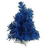 HAB & GUT XM091 künstlicher Weihnachtsbaum/farbiger Tannenbaum BLAU - Höhe 30 cm