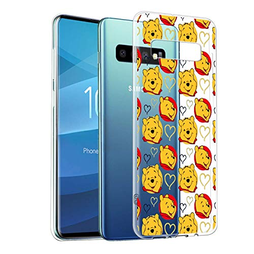 Coque Souple Transparente pour Samsung Galaxy S10+ avec Protection Anti-Rayures et Absorption des Chocs Winnie l'ourson
