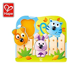 Hape- Puzzle encajable Animales Nariz Grande, Color nd (E1309)
