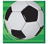 Unique Party - 27302 - Paquet de 16 Serviettes en Papier Football...