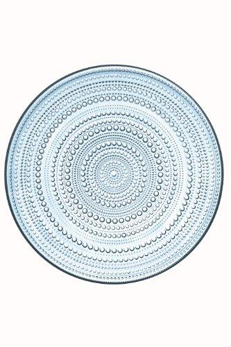 iittala Kastehelmi Dew Drop 12.25 Inch Diameter Round Glass Plates, Light Blue by Iittala (Blue Plate Iittala)