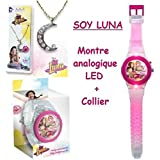 Disney Soy Luna LED reloj analógico + LUNA SOY collar ofreció