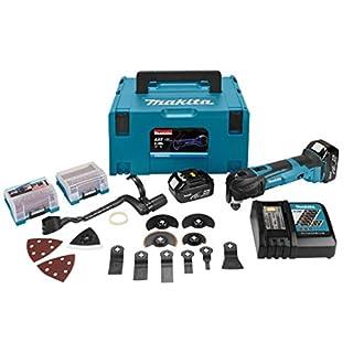 Makita DTM51RMJX2 Akku-Multifunktionswerkzeug 2x18V 4Ah + 38 Zubehör + koffer Makpac