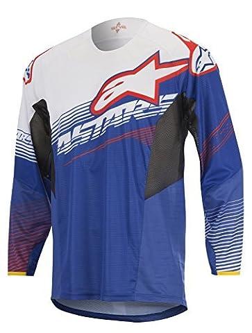 Alpinestars Blue-White-Red 2017 Techstar Factory MX Jersey