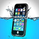 PhoneStar Premium Apple iPhone 6s iPhone 6 wasserdichte Outdooor Schutzhülle Waterproof Case staub-, wasser- und schneedicht rumdum Schutz Hülle in schwarz