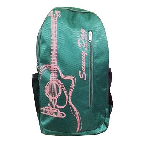 Rose Bud Sunny Day Style High Quality (30-35 Lts/18 inches/12-18 years) 3 Compartment Back and Shoulder Strap padding Polyester Backpack School Bags for Random Use for Middle and High School Girls and Boys teenager Students (Doraemon, Chota Bheem, Ben 10, Barbie, Motu Patlu, Cinderella Princess, Sponge Bob, Honey Bunny, Subway Surfers, Micky Mouse, Bugs Bunny, Tweety, Goofy, Tom, Jerry, Donald duck, Snow White etc) (Dark Green)