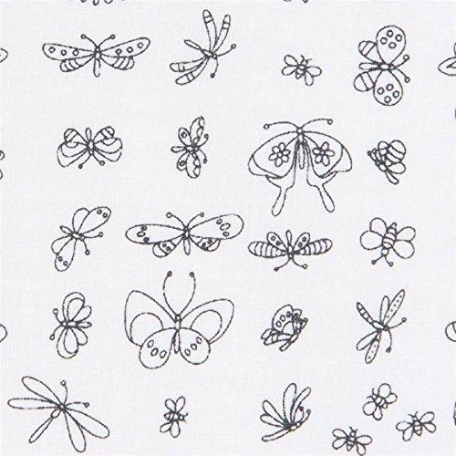 Michael Miller Designergewebe mit Insekten, aus den USA, Kollektion: Daisy Paisley -