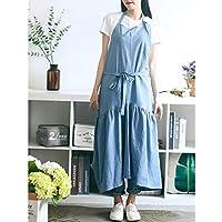 Delantal Ajustable Azul Nordic Wind Mermaid Fairy Cotton Lino Cocina Delantal De Cocina para Mujer Vestido