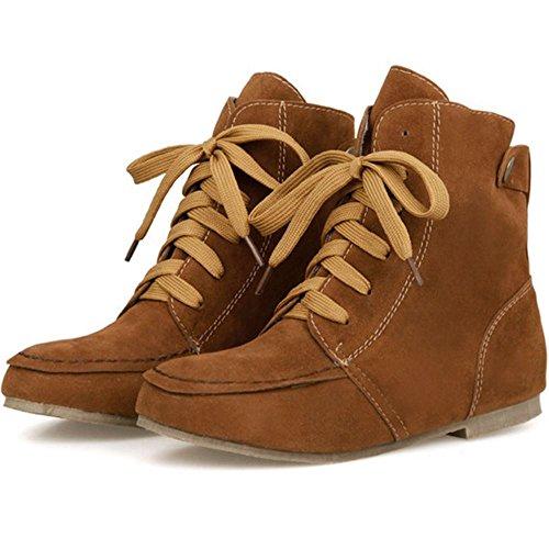 ... Razamaza Chaussures Décontractées À Lacets Pour Femme Bottes Foncées ... ef52d0c82fd7
