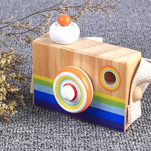 Mitlfuny Kinder Erwachsene Entwicklung Lernspielzeug Bildung Spielzeug Gute Geschenke,Kinder Nette hölzerne Kamera Spielzeug Weihnachten Kinderzimmer Dekor natürliche sichere hölzerne Kamera