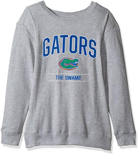 NCAA Florida Gators Womens NCAA Women's Light Weight Oversized Fleece, Large, Oxford - Gator Light