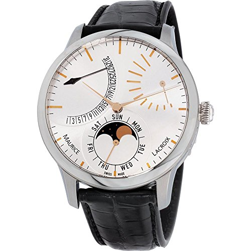 Maurice Lacroix Men's Masterpiece 43mm Automatic Watch MP6528-SS001-130-1