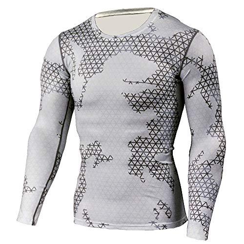 Carol -1 Gym Fitness Langarm T-Shirt Herren - Funktionelle Sport Bekleidung - Herren Langarmshirt Geeignet Für Workout, Training - Slim Fit -