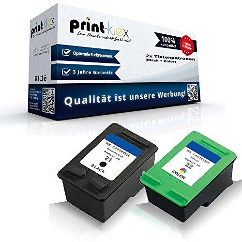 Kompatible Tintenpatronen Sparset f. HP C9351CE C9352CE HP21 HP22 XL DeskJet F370...