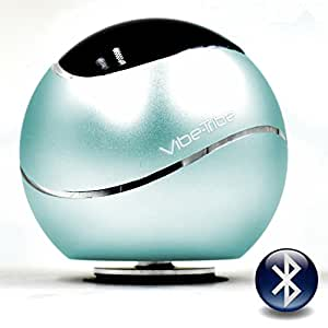 Vibe-Tribe Orbit - Tiffany Blue: 15 Watt Bluetooth Vibration Speaker, vivavoce, suction base integrata