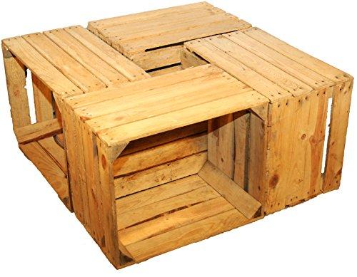 Kistenkolli Altes Land 4 Stück massive Obstkisten - Weinkisten Holzkisten Apfelkisten+++ Natur gebraucht