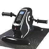 maxvitalis Elektro Mini Bike Arm- und Beintrainer Pedaltrainer Bewegungstrainer mit Trainingsdisplay Massage-Handgriffe Schwarz/Silber - 2