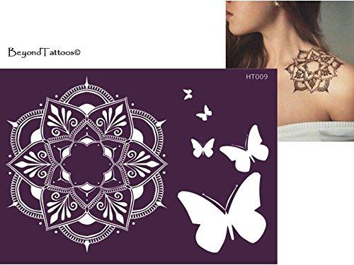 Mikronetz Tattoo Schablonen für Körperbemalung selbstklebend HT009 für einmalige Verwendung