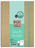 D.I.Y with Toga SU107 - Agenda Bullet Journal, Cuaderno Kraft, 15,5 x 21,5 x 1,5 cm