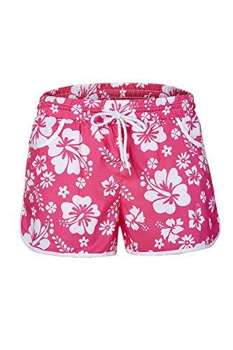 YACUN Femmes La Plage De Floral Des Pantalons Courts Doccasionnels pink
