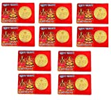 Krisah® 11 pcs Laxmi Ganesh ATM Card Coin-Gold Plated (11)