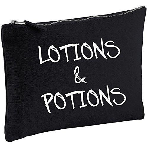 lotions et potions Noir Toile Trousse de Maquillage cadeau idée Sac maquillage ARTICLES DE TOILETTE CADEAU