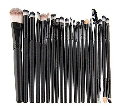 XUAN Pinceau de maquillage pinceaux ensemble de 20 oeil au beurre noir emballage sac