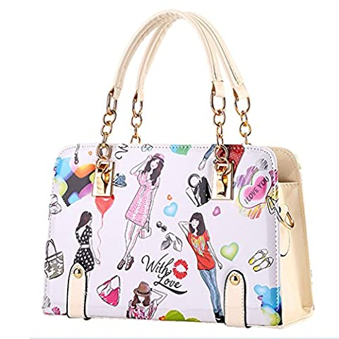 C.CHUANG New Fashion Contracted Cute Leather Girl Tote Shoulder Bag(C6)