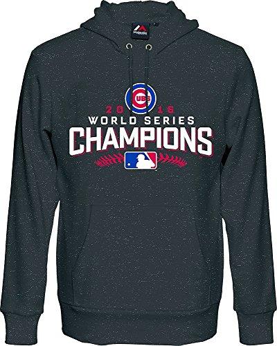 Majestic MLB CHICAGO CUBS World Series Champions 2016 Trophy T-Shirt, Größe:L