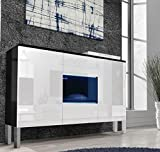 muebles bonitos - Aparador Colgante de diseño Varedo Negro y Blanco