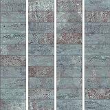 murando - PURO TAPETE - Realistische Betonoptik Tapete ohne Rapport und Versatz 10m Vlies Tapetenrolle Wandtapete modern design Fototapete - Beton Stein Mozaik Wand Mauer blau f-A-0161-j-b