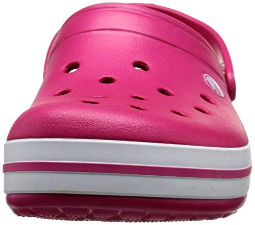 Crocs Crocband - Sabots - Mixte Adulte Raspberry/White