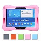 NEWSTYLE Samsung Galaxy Tab 4 10.1 Kinderfreundliche Silikon Hülle Schutzhülle Tasche Case für Samsung Tab 4 SM-T530/T531/T535 Tab 3 GT-P5200 P5210 P5220 (10,1 Zoll) - Pink