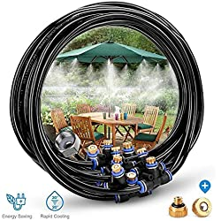 Système de refroidissement extérieur de brumisation, kits micro d'arrosage de tuyau de jardin de kits d'irrigation de brume pour l'arrosage de parasol de jardin de patio de serre