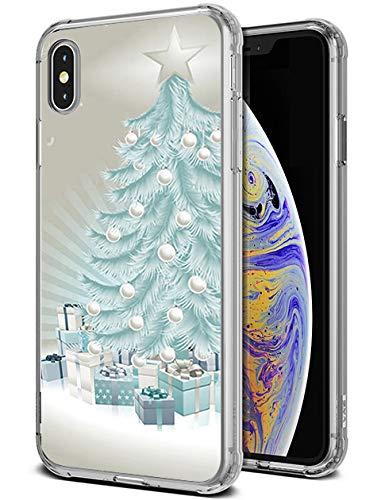 Schutzhülle für iPhone XS Max (2018), 16,5 cm, Weihnachtsmuster, Design-5 (Iphone 5 Print Tribal Fall)