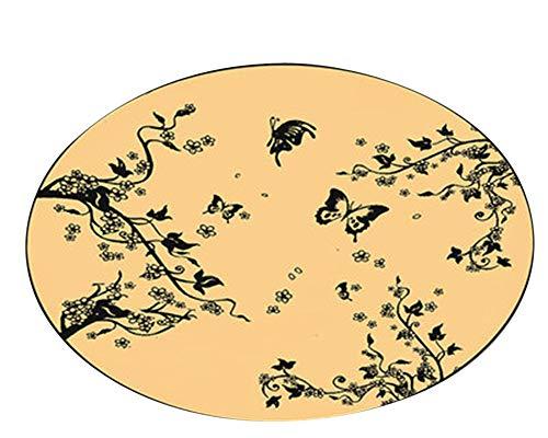 DianShaoA Runder Teppich für Wohnzimmer,Rutschfest,Erde,Mond,Planeten,Teppich für Kinder,Schlafzimmer,Wohnzimmer,Polypropylen, 5 100cm